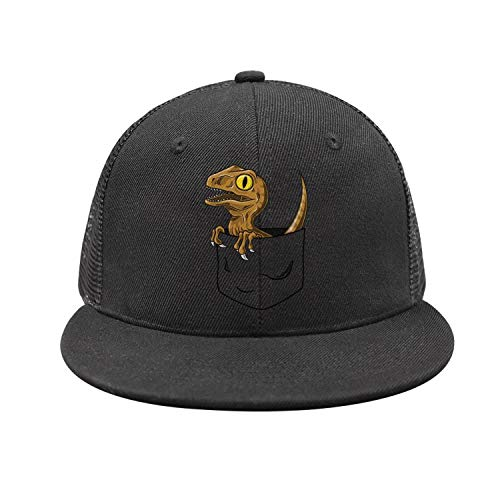 BVBN Jurassic World Park Pocket Dinosaur Unisex Mesh Baseball Cap Adjustable Snapback Hats