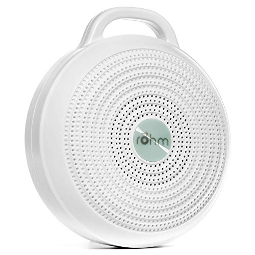 Yogasleep Rohm Portable White Noise Machine for Travel | 3 Soothing, Natural Sounds with Volume Control | Compact Sleep Therapy for Adults & Baby | USB Rechargeable | Lanyard for Easy Hanging