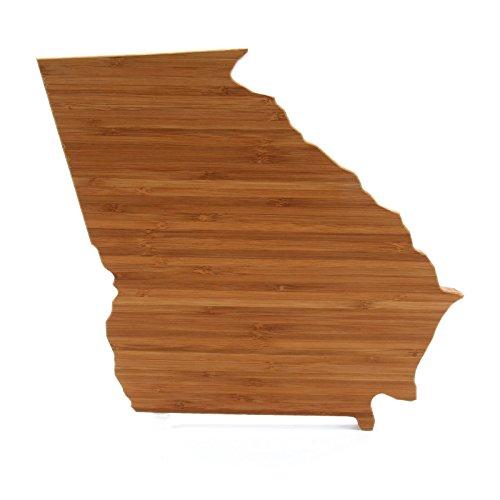 Cutting Board Company Georgia Shaped Cutting Board, Bamboo Cheese Board