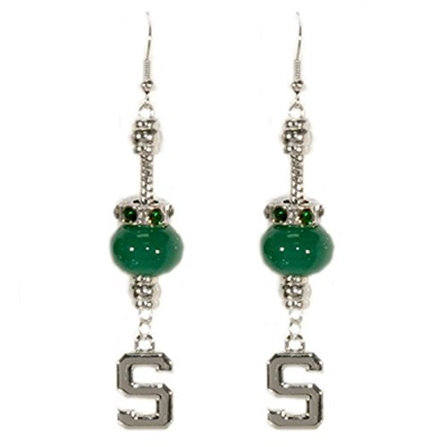 Michigan State Spartans Homecoming Pride Bead and Logo Earring - Msu Sparty Costume