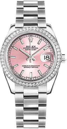 Women's Rolex Datejust 31 Pink Dial Diamond Bezel Luxury Watch 178384