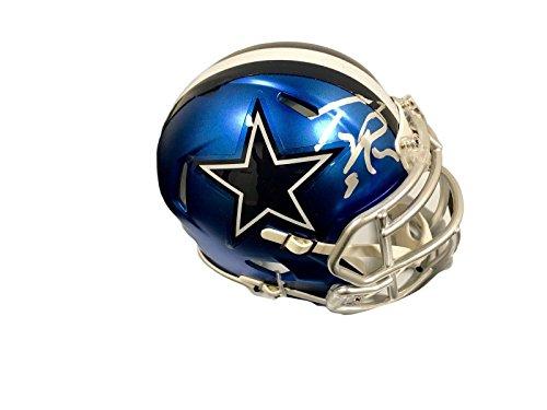 (Tony Romo Autographed Mini Helmet - Blaze - JSA Certified - Autographed NFL Mini Helmets)
