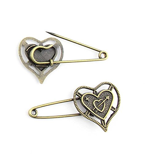 40 Pieces Jewelry Making Charms Love Pin Brooch pendant wholesale supplies repair