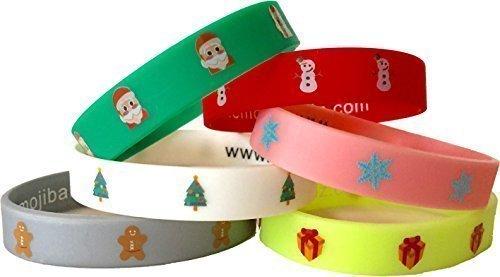 (EmojiBandz Emoji Wristbands Fun Pack Christmas Special, Santa, Snowman, Christmas Tree, Snowflake, Gingerbread Man,)