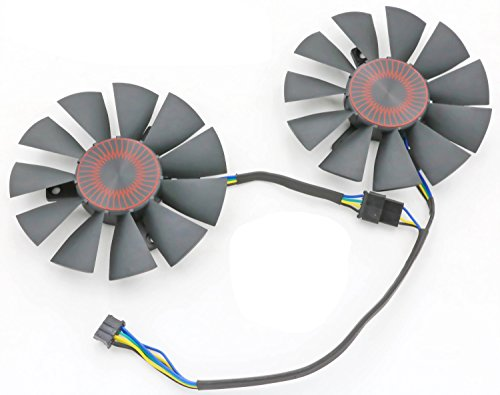 Replacement Video Card Cooling Fan For STRIX GTX 960 GTX950 GTX 750TI R9 370 Graphics Card Fan 75mm 4Pin by Tebuyus