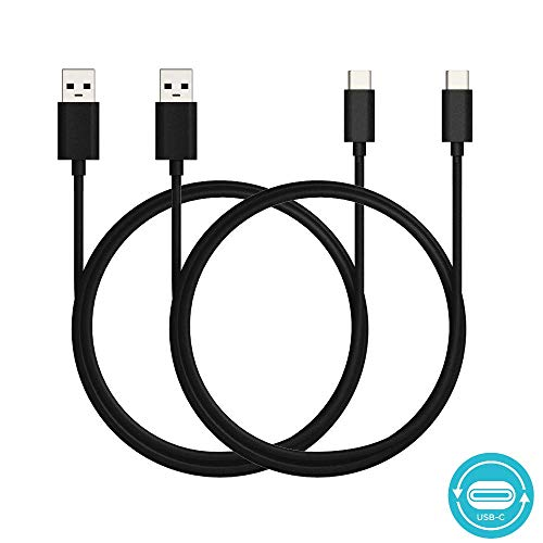 Motorola 6.6ft/2m USB-A 2.0 to USB-C (Type C) Data/Charging Cable for Moto X4, Z, Z2, Z3, G6, G6 Plus - Retail Box [2 Pack]