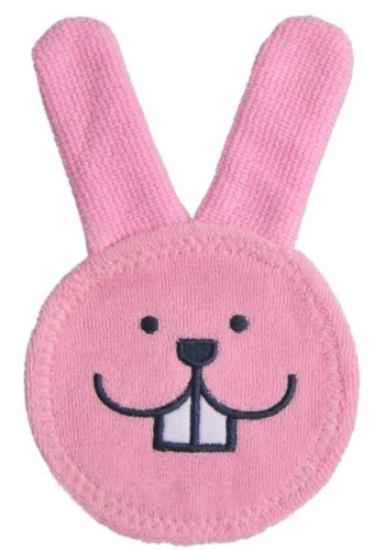 MAM Baby Oral Care, Oral Care Rabbit Microfiber Gum Cleaning Cloth, Pink, 0+ Months, 1-Count