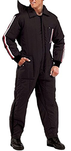 Black Military Cold Weather Winter Or Freezer Ski & Rescue Coveralls Suit