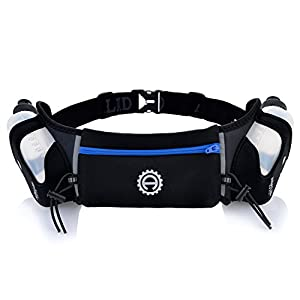 Adalid Gear Hydration Belt with Two 10-Ounce Bottles (Royal Blue/Medium)