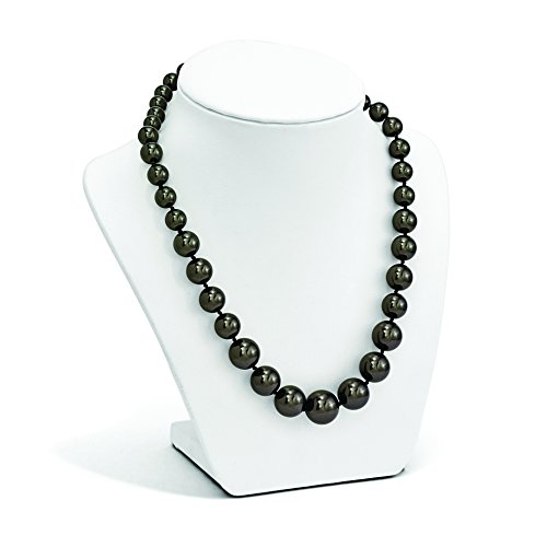 ICE CARATS 925 Sterling Silver Majestik 8 16mm Graduated Black Shell Bead Chain Necklace Pearl Fine Jewelry Gift Set For Women Heart by ICE CARATS (Image #4)