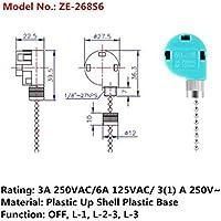 Ceiling Fan Speed Control Switch Zing Ear ze-268s6 Ceiling