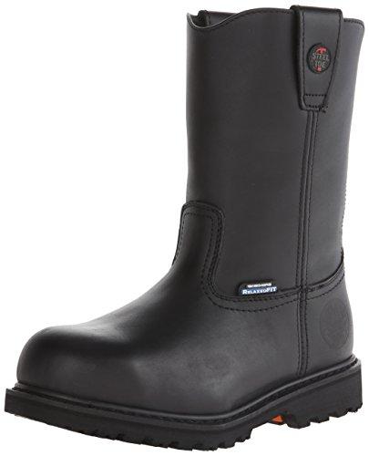 Skechers for Work Men's Ruffneck Slip Resistant Work Boot,Black,11.5 M US
