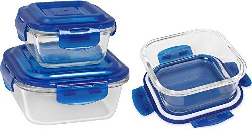 Glass Food Storage Container Set Blue 18 Pieces Set 9