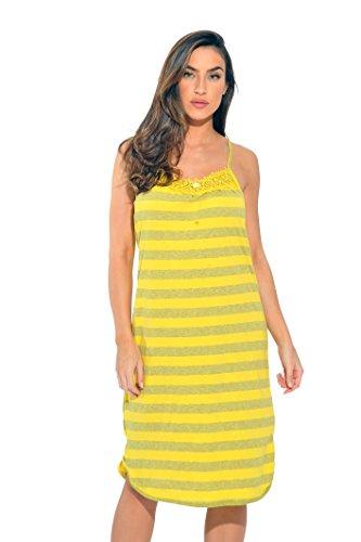 1525A-YEL-2X Just Love Nightgown / Women Sleepwear / Womans Pajamas , 2X Plus