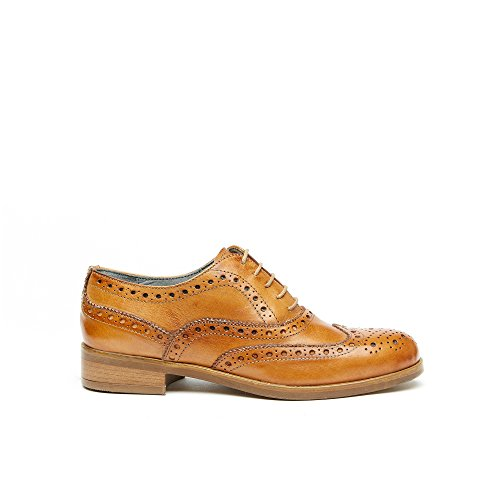 f02c15a9aa94 Chaussures Ajourées Oxford Femmes en Cuir Made in Italy ...