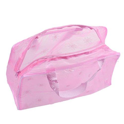 winwintom portátil cosméticos de viaje de aseo lavado bolsa de cepillo de dientes rosa