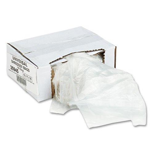 Universal High-Density Shredder Bags, 16 gal Capacity, 100/CT by Universal
