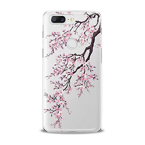 Lex Altern TPU Case for OnePlus 7 Pro 6T 6 2019 5T 5 2017 One+ 3 1+ Pink Sacura Blossom Pattern Cover Cute Floral Tree Silicone Elegant Print Beautiful Kid Girls Design Transparent Joyful Lady Mom