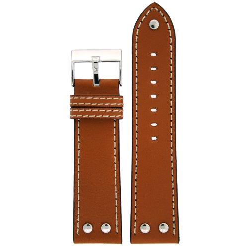 Pilot Watch Band with Rivets Tan Color 22 millimeter Tech (Band Rivets)