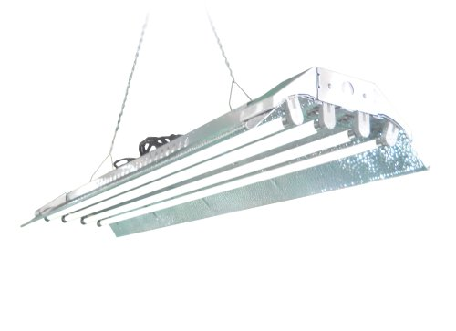 High Intensity Fluorescent Lights - T5 Grow Light (4ft 4lamps) DL844s Ho Fluorescent Hydroponic Fixture Bloom Veg Daisy Chain with Bulbs