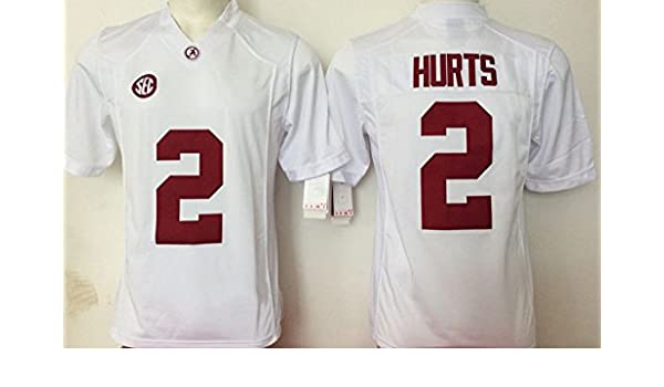 free shipping 32c88 42754 Men's Alabama Crimson Tide Jalen Hurts #2 College Football ...