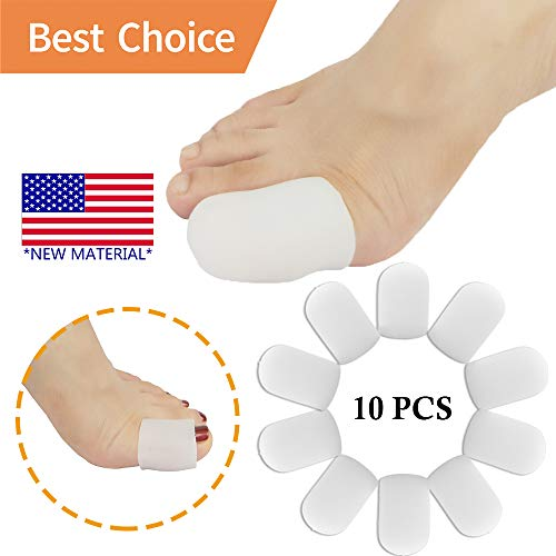 pnrskter Gel Toe Caps Toe Protectors Toe Sleeves *New Material* for Blisters, Corns, Hammer Toes, Ingrown Toenails, Toenails Loss, Friction Pain Relief and More (10 PCS for Big Toe) price tips cheap