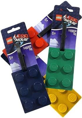LEGO Brick Luggage Bag Tag Green NEW