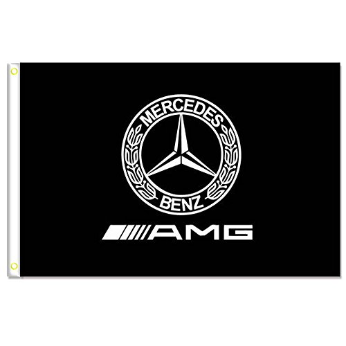 MCCOCO Mercedes Flags Banner 3X5FT-90X150CM 100% Polyester,Canvas Head with Metal Grommet,Used both Indoors and Outdoors. (design3)
