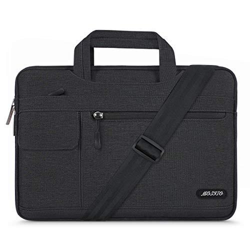 MOSISO Laptop Shoulder Bag Compatible 13-13.3 Inch MacBook Pro, MacBook Air, Notebook Computer, Protective Polyester Flapover Messenger Briefcase Handbag Sleeve Carrying Case Cover, ()