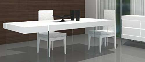 J and M Furniture 176971-T-HG Cloud Modern Dining in High Gloss (Modern High Gloss)