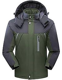 Men's Ski Jackets Waterproof Windproof Fleece Jackets Mountain Hooded Jackets Outdoors Winter
