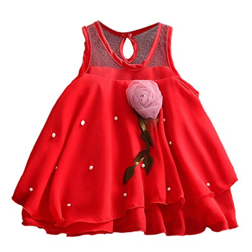 Party Dress Special Occasion Girls Dress Pink Tutu Wedding Christening Birthday Baby Toddler Clothes 6M-24M