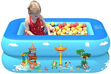 LAZORA Inflatable Swimming Pool Household Baby Wear-Resistant Thick Ball Pool Pit PVC Portable Outdoor Indoor Children Basin Bathtub Kids Pool Water Play