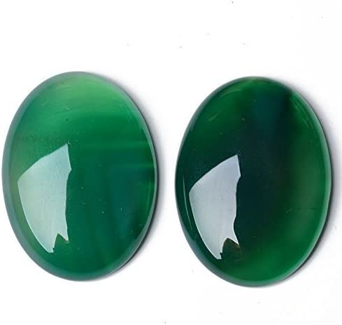 Charming Beads Pacco 2 x Verde Avventurina 13 x 18mm Cabochon Ovale CA16664-4