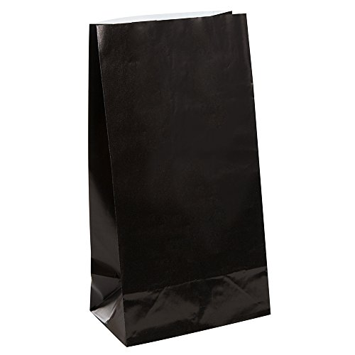 Black Paper Party Favor Bags, 12ct -