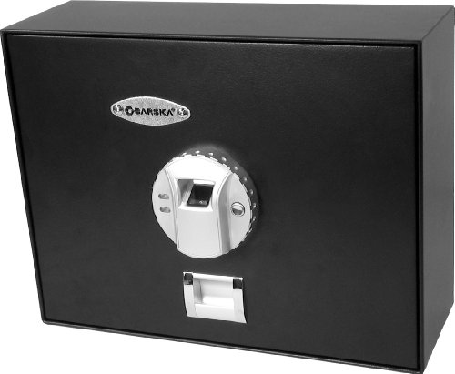 Barska AX11556 Biometric Top-Opening Drawer Safe Black