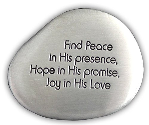Cathedral Art SS129 Find Peace Soothing Stone, 1-1/2-Inch