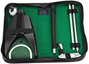 Portable Golf Putter, Travel Practice Putting Tool Set with Ball Return System for Indoor Outdoor Golf Games