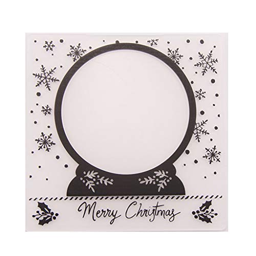 - ShapeW Plastic Embossing Folder Template DIY Scrapbook Photo Album Card Craft DIY Christmas Snowflake