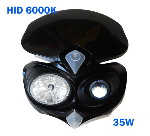 HID Head light F dual sport street fighter naked black fairing race universal motorcycle xenon white 6000k 35w enduro KTM Decal Sticker Racing excel KTM rim RC8 sting enduro sport duke 125 250 300 400 450 500 505 520 525 - Lights Dual Sport