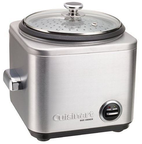 Cuisinart 8-Cup Rice Cooker Brushed Chrome CRC-800