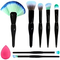 Baimei 7-Pieces Makeup Brushes with a Makeup Sponge
