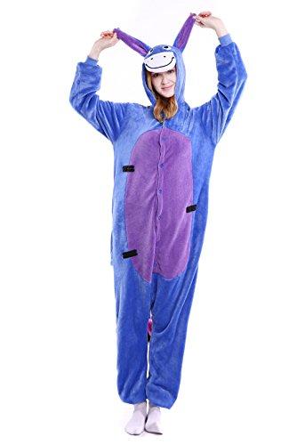 Adult Shrek Donkey Costumes (Yutown Unisex-adult Animal Onesie Pajamas Kigurumi Cosplay Costume Shrek Donkey L)