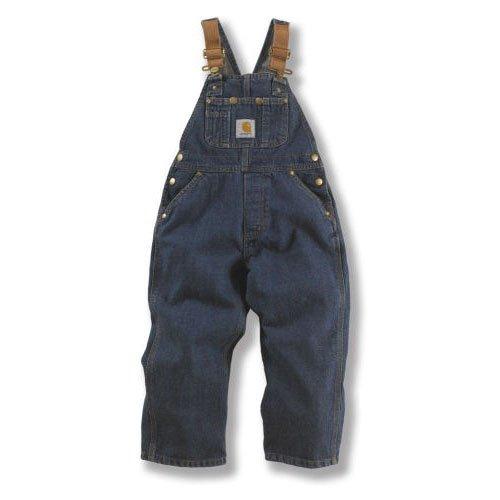 Carhartt  Big Boys' Denim Washed Bib Overall,Vintage Wash,16