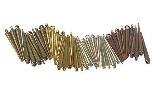 آویزهای 100گرمی قلبی شکل دستبند ، گردنبند و گوشواره ی آنتیک از آلیاژ فلزی .لوازم جانبی برای ساخت جواهر آلات در خانهLAOZHOU  