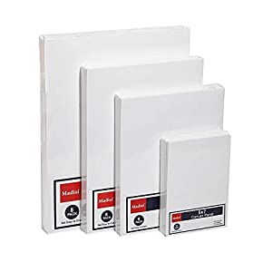 Madisi Painting Canvas Panels Multi Pack, 5×7, 8×10, 9×12, 11×14(8 of Each), 32 Pack