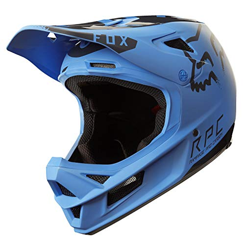 - Fox Racing Rampage Pro Carbon MIPS Helmet Blue/Black, L