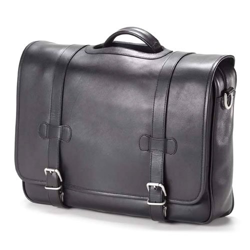 (Clava Executive Porthole Flap Briefcase - Bridle Black)