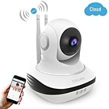 Wireless Security Camera, 720P HD WiFi Baby Monitor Home Surveillance IP Camera with Night Vision, Pan/Tilt, Two way Talk by Android iOS App (Upgraded Version)