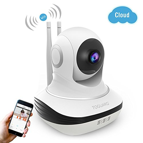 41BXSCvb6 L - Wireless Security Camera, 720P HD WiFi Baby Monitor Home Surveillance IP Camera with Night Vision, Pan/Tilt, Two way Talk by Android iOS App (Upgraded Version)